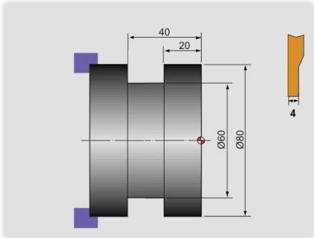 G75 ciclo fijo de desbaste frontal o ciclo fijo de ranurado