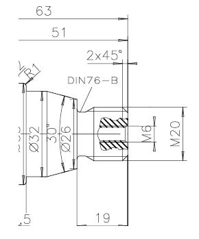 ejemplo de rosca M20