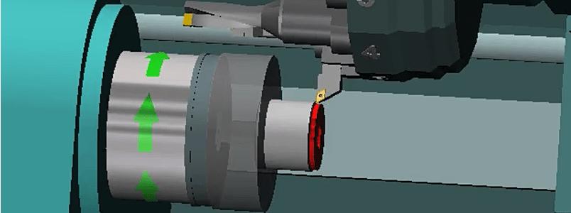 mecanizado de un perfil con chaflanes
