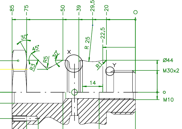 mecanizado de encastes con G02 y G03