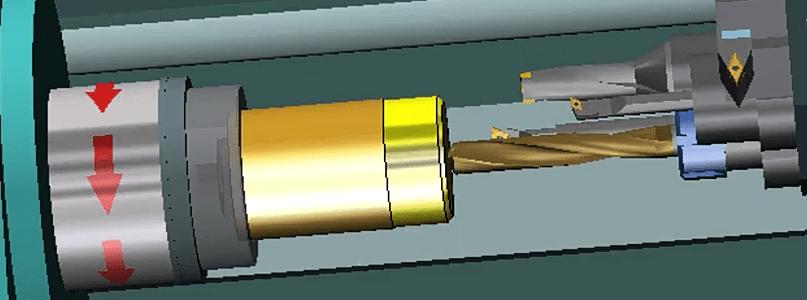 Taladrado con una broca de diámetro 20 mm