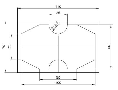 Mecanizado de contorno en placa