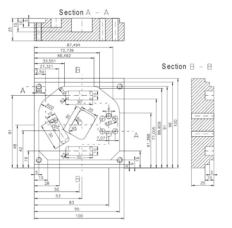Mecanizado de cajeados y taladrados
