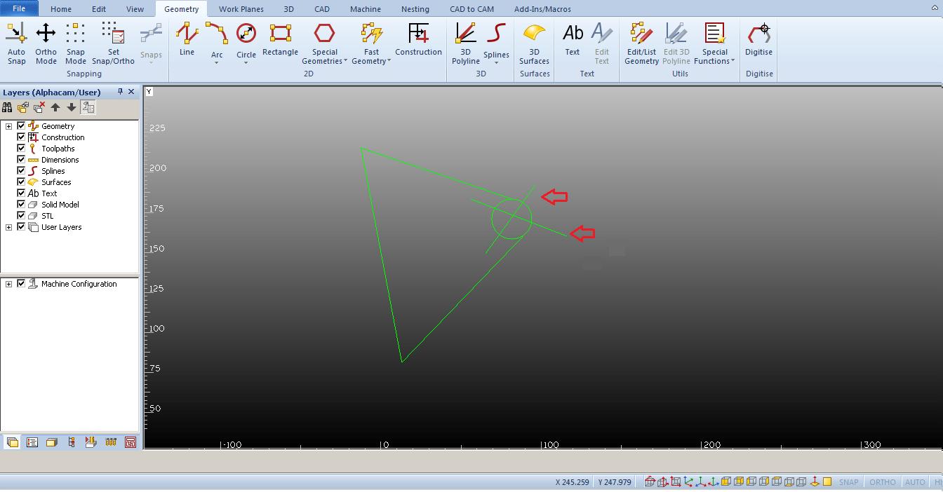 Encontrar geometría